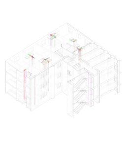BIM Vista Coordinación Arquitectura-Estructuras-Instalaciones_